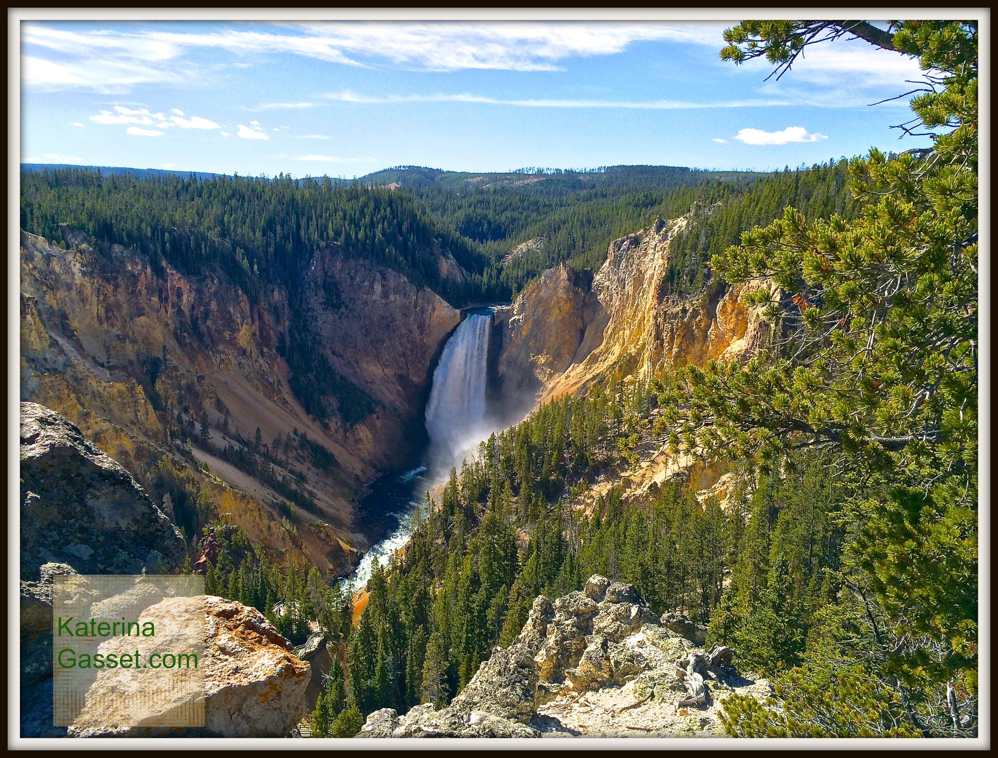 Yellowstone Falls Wyoming Gasset Family