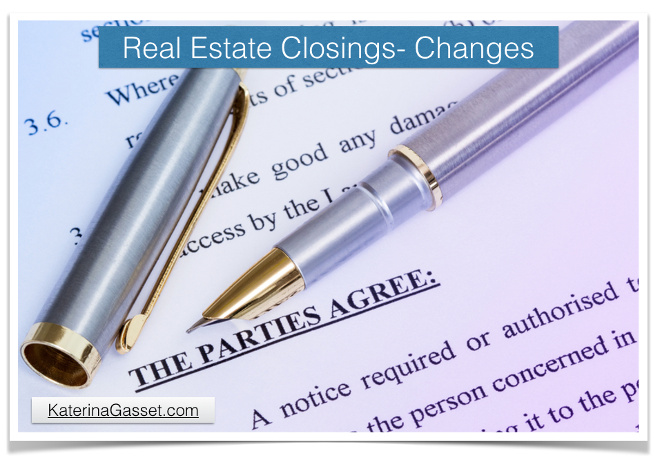 Real Estate Transaction Closing Rules and Forms Change